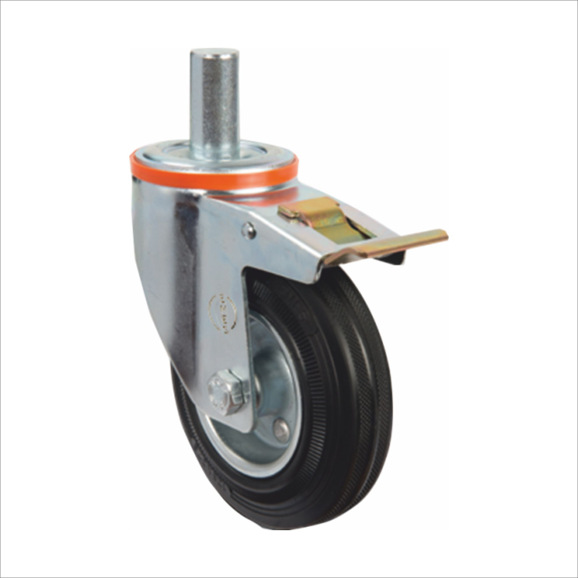 WHEEL WITH PIN AND BRAKE